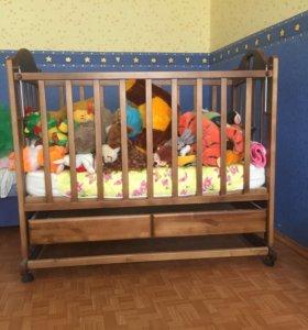 Кроватка детская+кокосовый матрасик