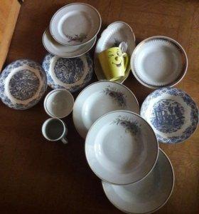 Посуда для дачи 14 предметов. 200 рублей за всё