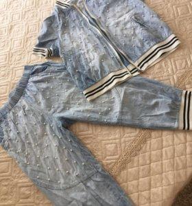 Тонкий джинс. Костюм женский