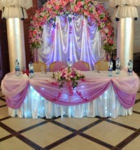 Украшение свадебеого зала