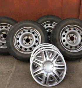 Зимние шины Michelin на дисках