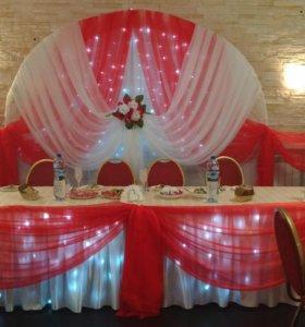 Оформление свадебного зала и других торжеств