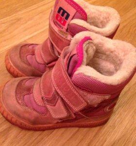 Зимние ботинки minimen 25 размер (16см)