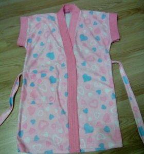 Детский махровый халат для девочки