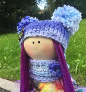 Интерьерная Текстильная кукла.