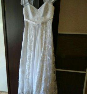 Свадебное платье, горжетка, кринолин