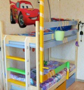 Детская кровать двухъярусная
