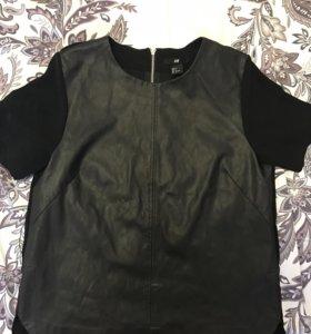 Блуза футболка кожаная h&m новая