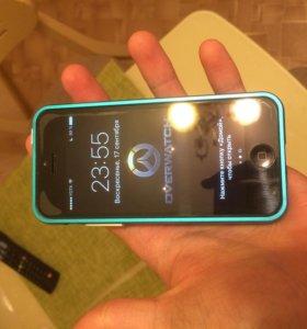 iPhone 5c синий. В отличном состоянии