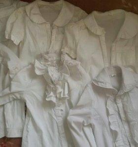 Школьные блузки на первоклашку