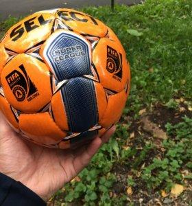 Мяч футбольный-4 Select Super League Оранжевый