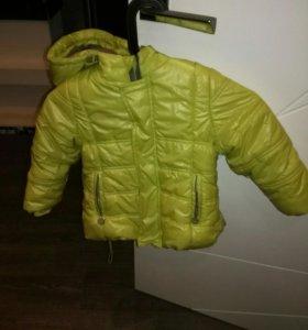 Куртка на девочку зимняя р 92