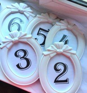 Нумерация для столов на свадьбу