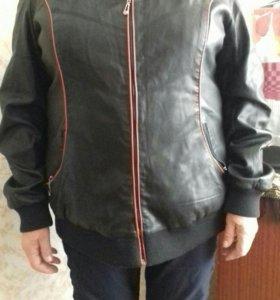 Куртка женская кожа 54 размер