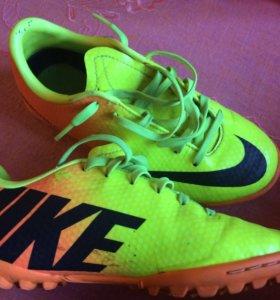 Бутсы футбольные детские Nike, размер 19