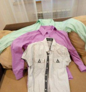 Рубашки для подростка.Цена за 3