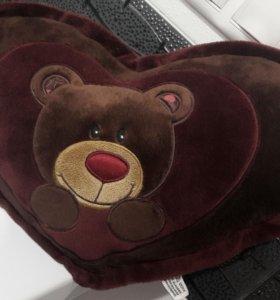 Мягкая игрушка сердце с медведем