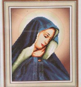 Мозаика стразами -дева Мария