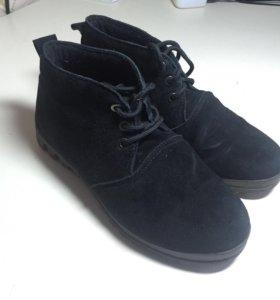 Замшевые ботинки (осень-весна)