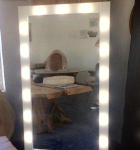 Зеркало с лампочками столики для макияжа оборудова