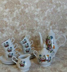 Сервизы кофейные Букет цветов и Бутон.