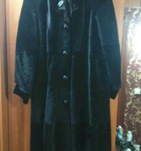 НОВАЯ Натуральная мутоновая шубка (пальто)