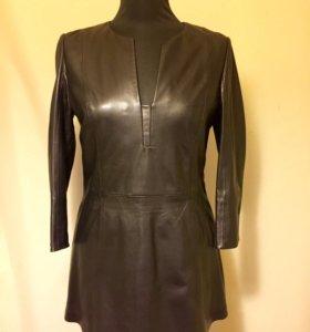 Кожаное мини платье(Blaky Dress)
