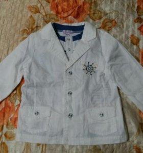 Пиджак с футболкой