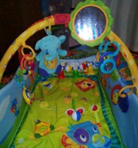 Развивающий коврик с комплектом подвисных игрушек
