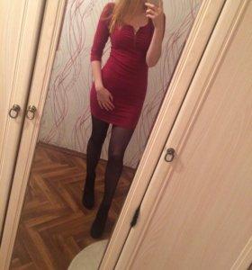 Платье бордовое New Yourker