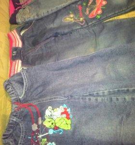 Джинсовые штаны с начесом