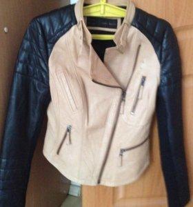 Куртка кожаная ZARA BASIC