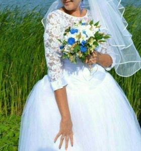 Свадебное платье 54-56размер