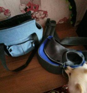 Продам обе сумки для маленьких пород собак за 1500