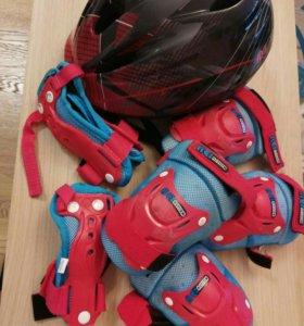 Комплект защиты (ролики, скейт) + шлем