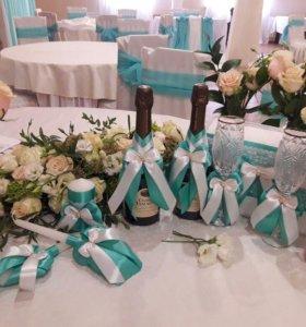 Свадебные аксессуары,текстиль,офтрмление,флористик