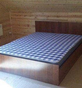 """Кровать новая """"А-Итальянский орех"""" 160 с матрасом!"""
