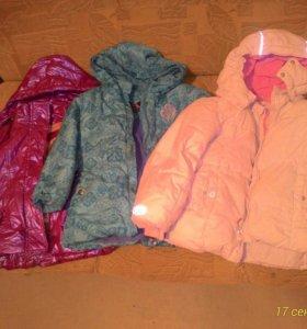 Тёплые куртки для девочки