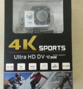 Экшн камера 4К Sports HD DV WI-FI