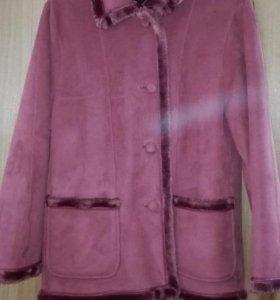 Осенняя дубленка куртка