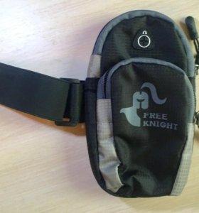 сумка спортивная для телефона, наушников, МП3