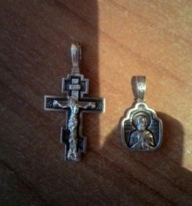 Крест, серебро