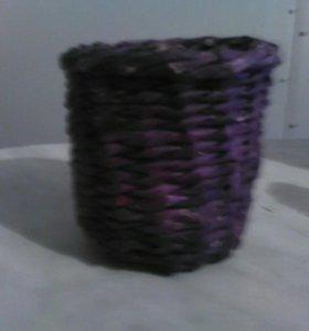 Карандашница плетеная