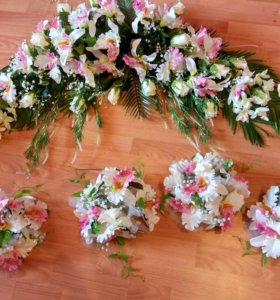 Композиция на свадебную арку + 4 букета