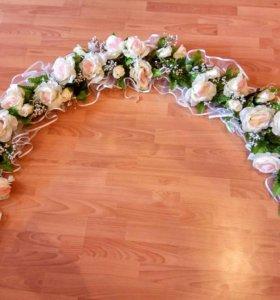 Украшение на свадебную арку