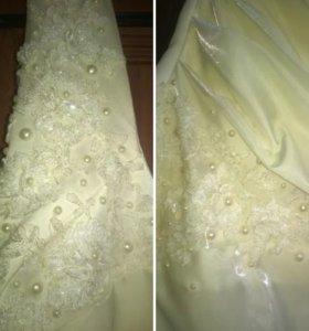 Свадебное платье + болеро, размер 52-54