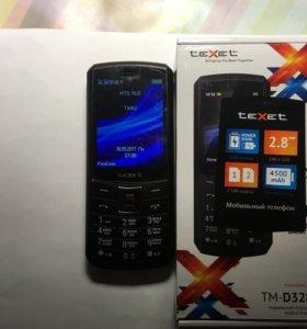 Телефон Texet TM-D328 PowerBank 4400мАч