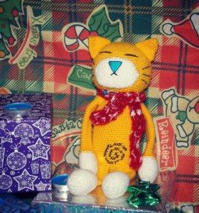 вязаные игрушки на заказ. котики,единороги и др.