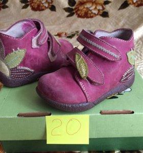 Ботинки 20р кожа