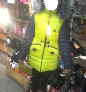 куртки детские возрастом от7 лет до 15 лет